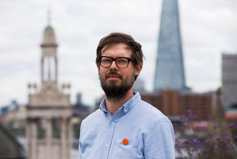 Michael Marcinkowski. Ambient Literature event, London. 30 June 2016.