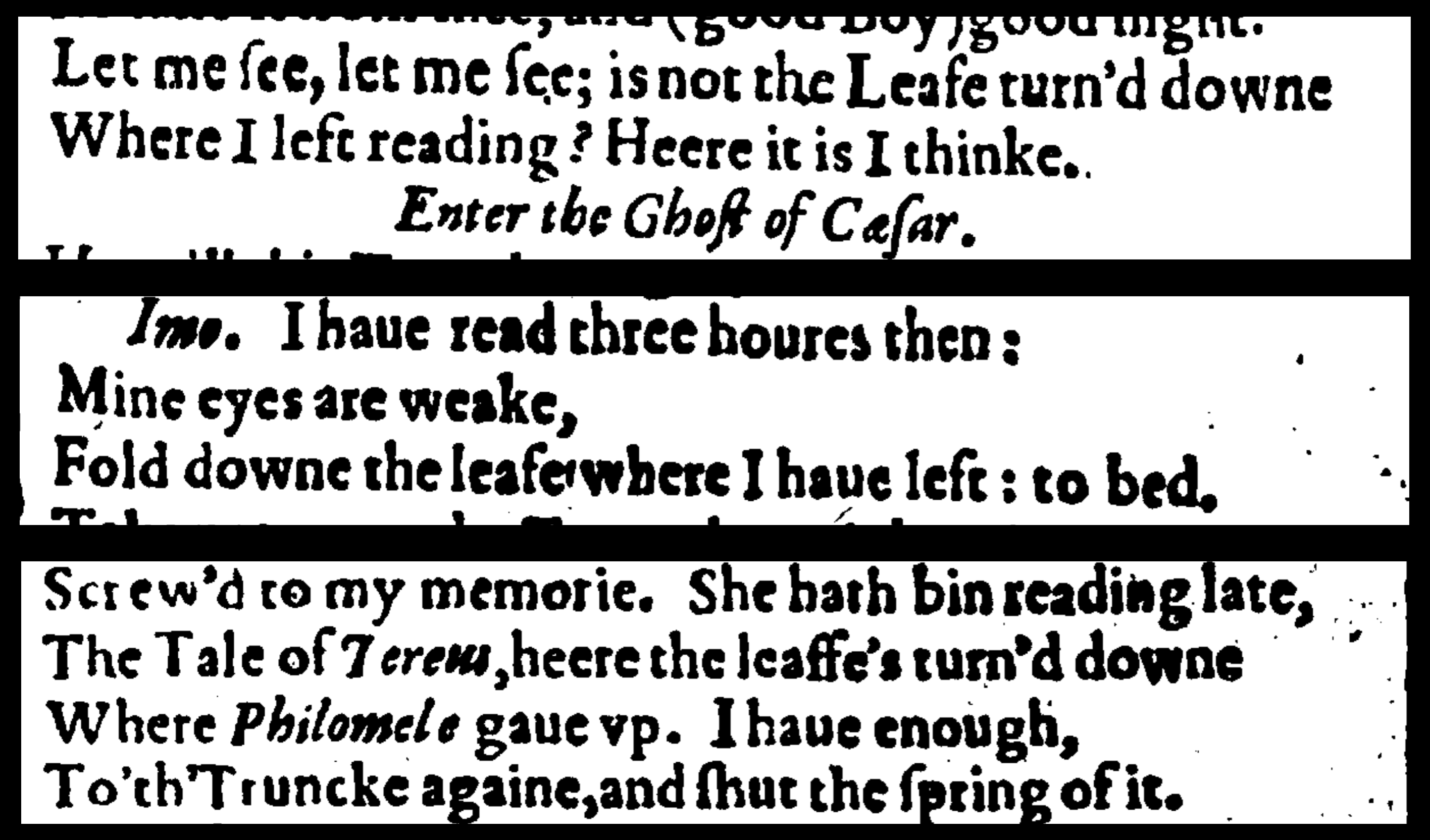 References to dog earing in Shakespeare's Julius Caesar and Cymbeline.